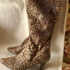 Impo Stretch animal print boots